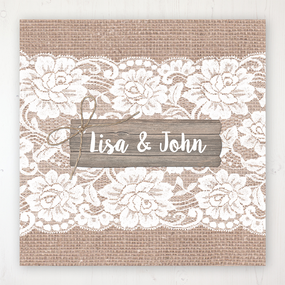 Chantilly Lace Wedding Collection - Main Stationery Design