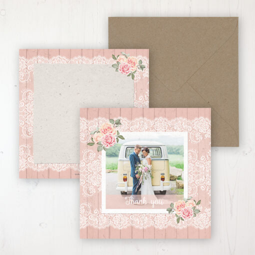 Coral Haze Wedding with a photo and with space to write own message