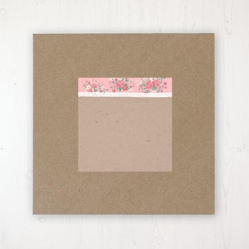 Cornflower Meadow Wedding Envelope Label on Rustic Brown Envelope