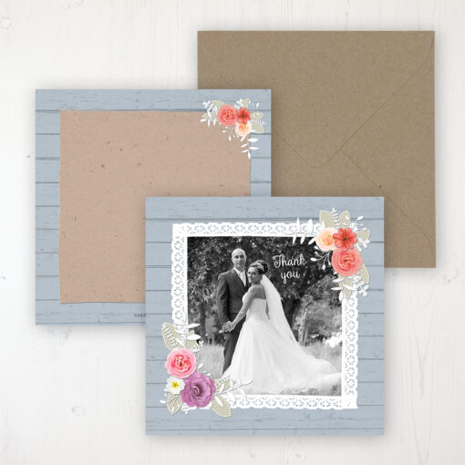 Cornflower Meadow Wedding with a photo and with space to write own message