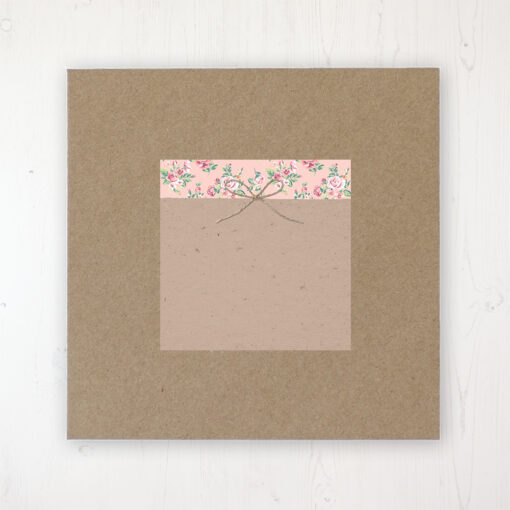 Country Wedding Envelope Label on Rustic Brown Envelope