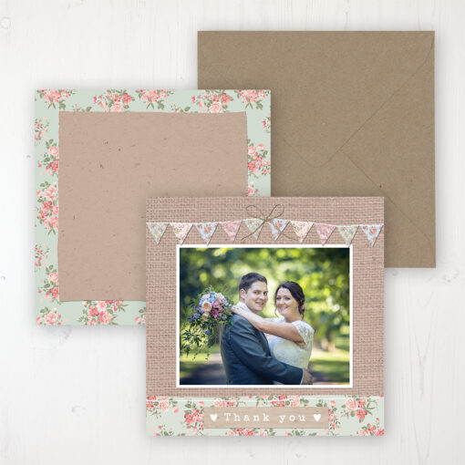 Country Wedding with a photo and with space to write own message
