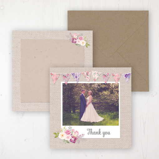 Floral Blooms Wedding with a photo and with space to write own message