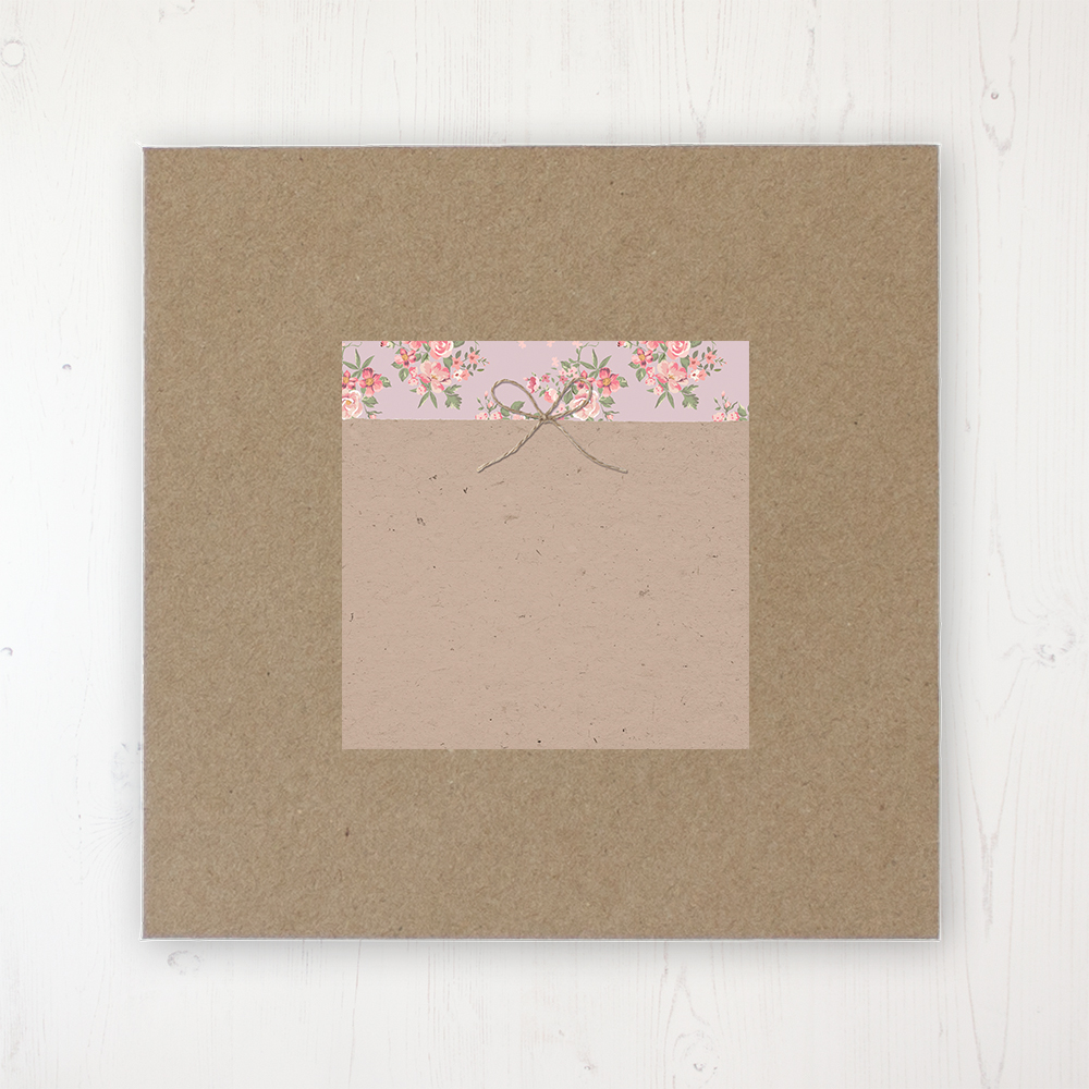 Floral Furrows Wedding Envelope Label on Rustic Brown Envelope