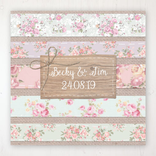 Floral Furrows Wedding Collection - Main Stationery Design