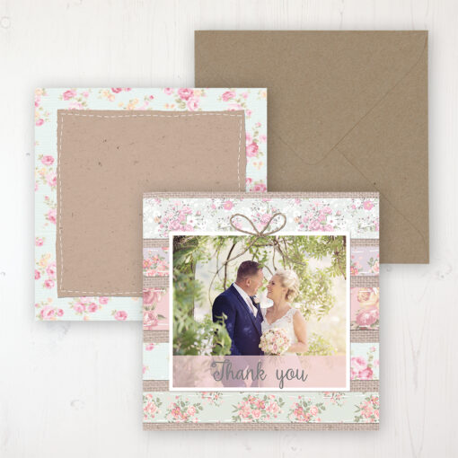 Floral Furrows Wedding with a photo and with space to write own message