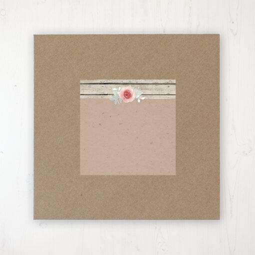 Flower Crown Wedding Envelope Label on Rustic Brown Envelope