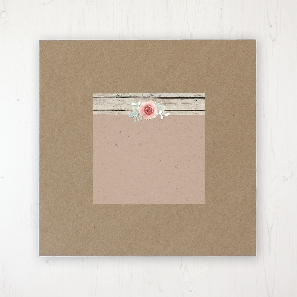 Flower Crown Wedding Envelope Label on Rustic Brown Envelope