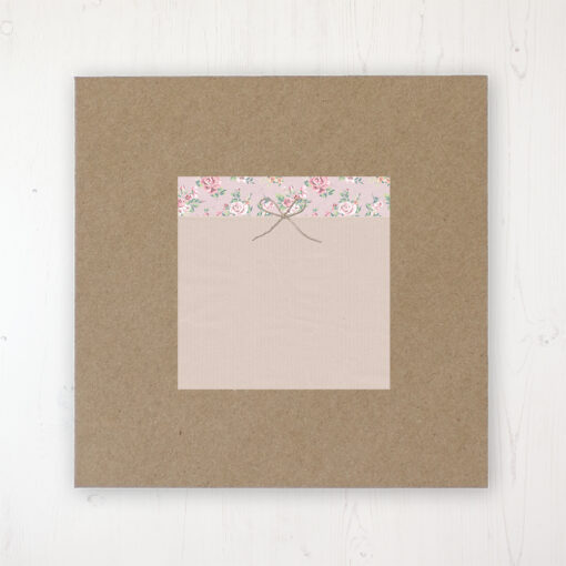 Going to the Chapel Wedding Envelope Label on Rustic Brown Envelope