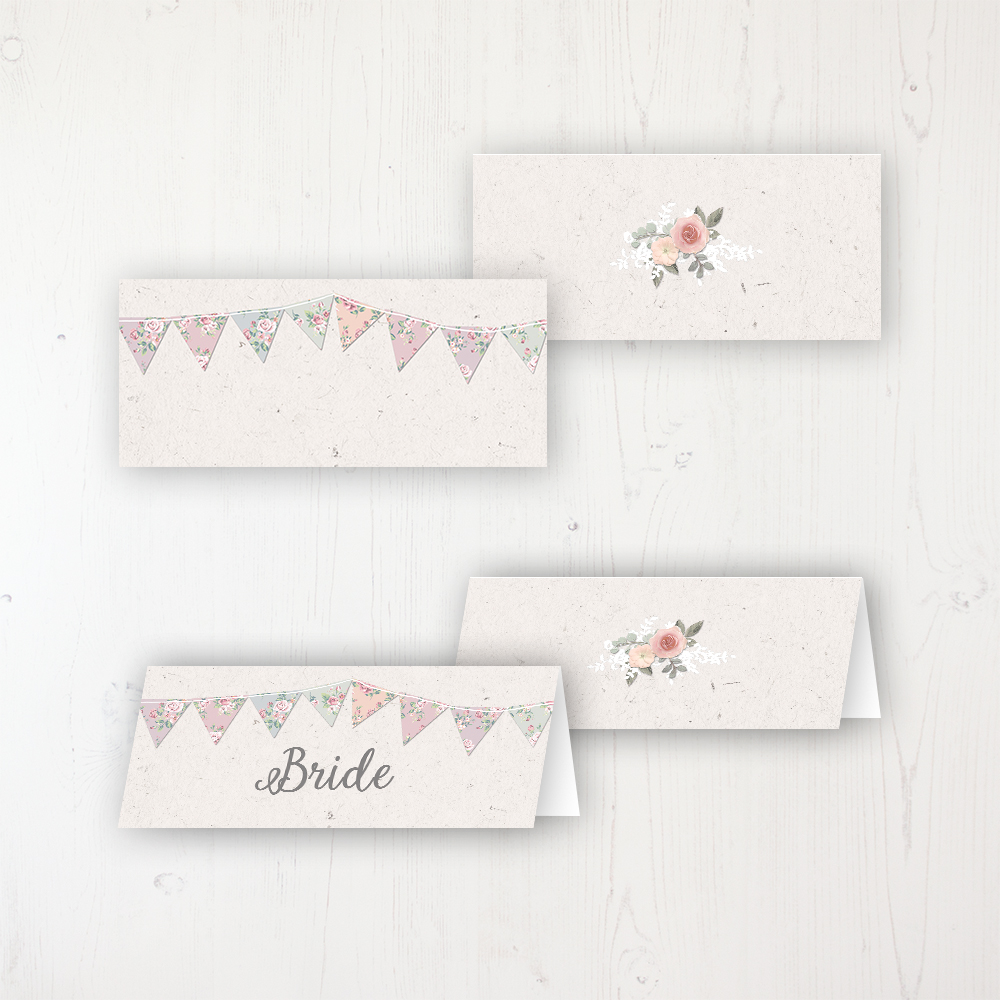Going to the Chapel Wedding Place Name Cards Blank and Personalised with Flat or Folded Option