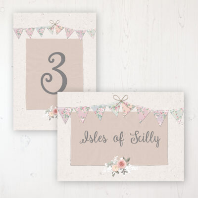 Going to the Chapel Wedding Table Name & Number Personalised Table Name Card and Number Card