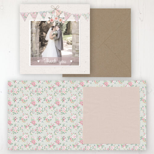 Going to the Chapel Wedding Thank You Card - Folded Personalised with a Message & Photo