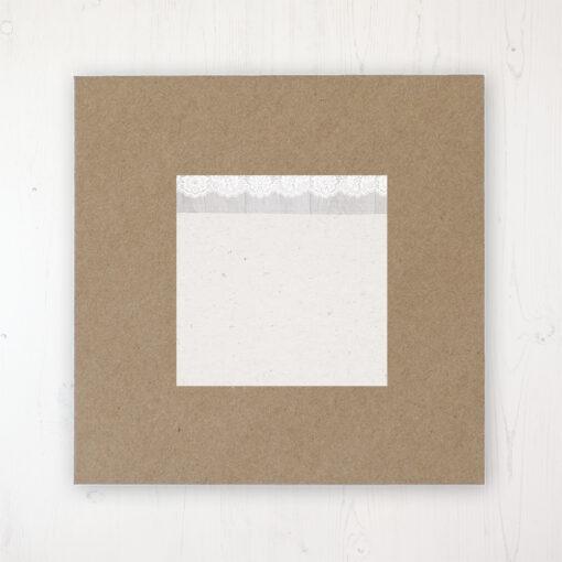 Grey Whisper Wedding Envelope Label on Rustic Brown Envelope