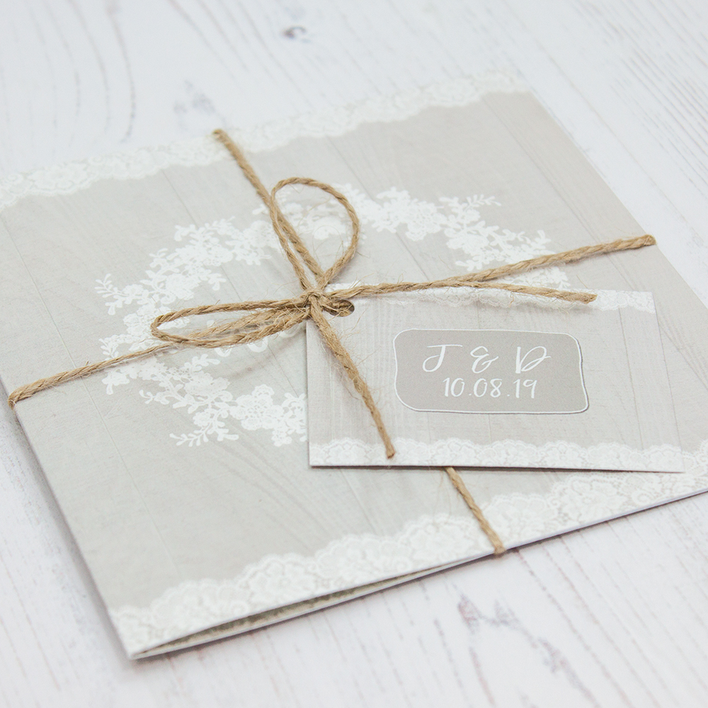 Grey Whisper Wedding Invitations - Sarah Wants Stationery