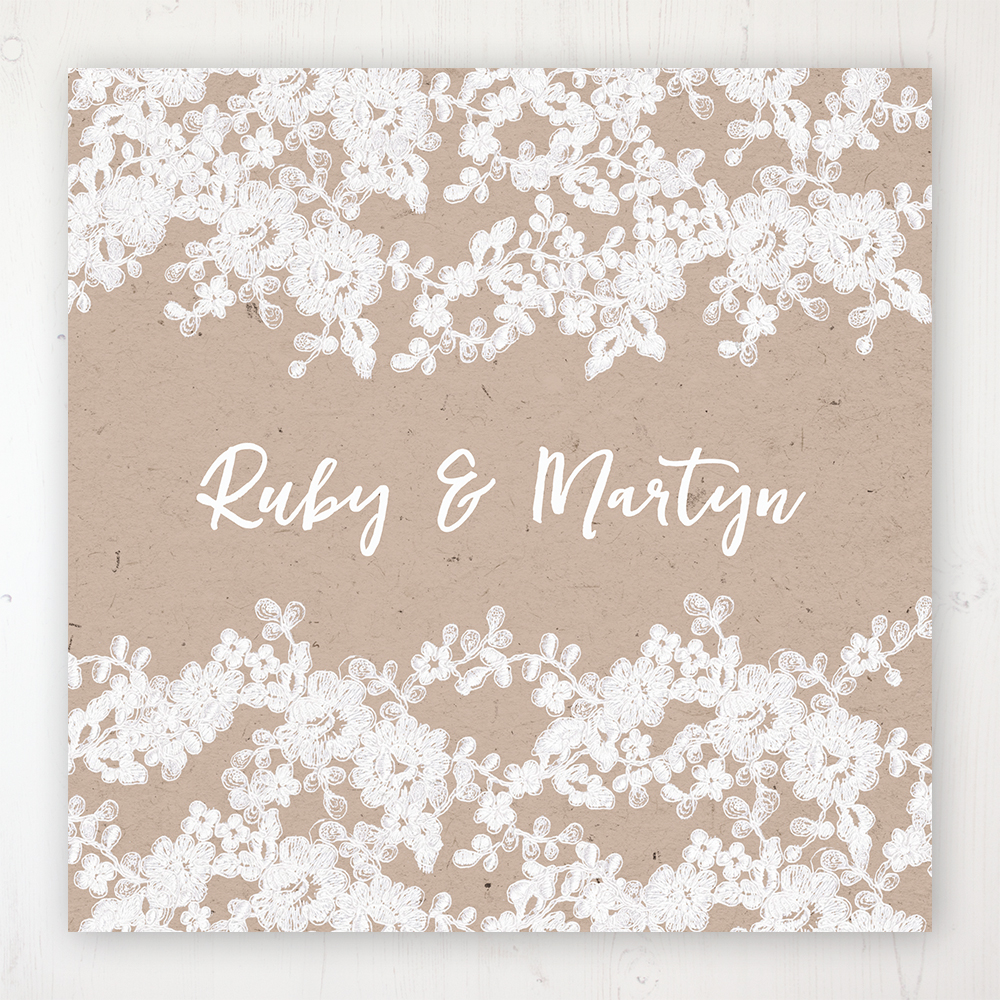Lace Filigree Wedding Collection - Main Stationery Design