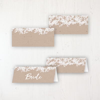 Lace Filigree Wedding Place Name Cards Blank and Personalised with Flat or Folded Option