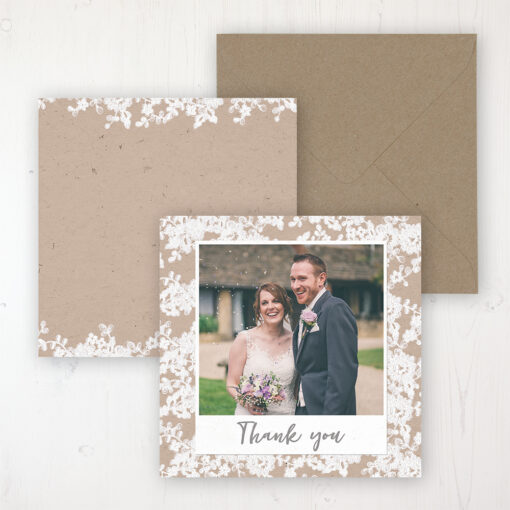 Lace Filigree Wedding with a photo and with space to write own message
