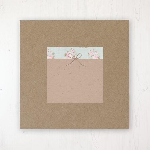 Lovebirds Wedding Envelope Label on Rustic Brown Envelope
