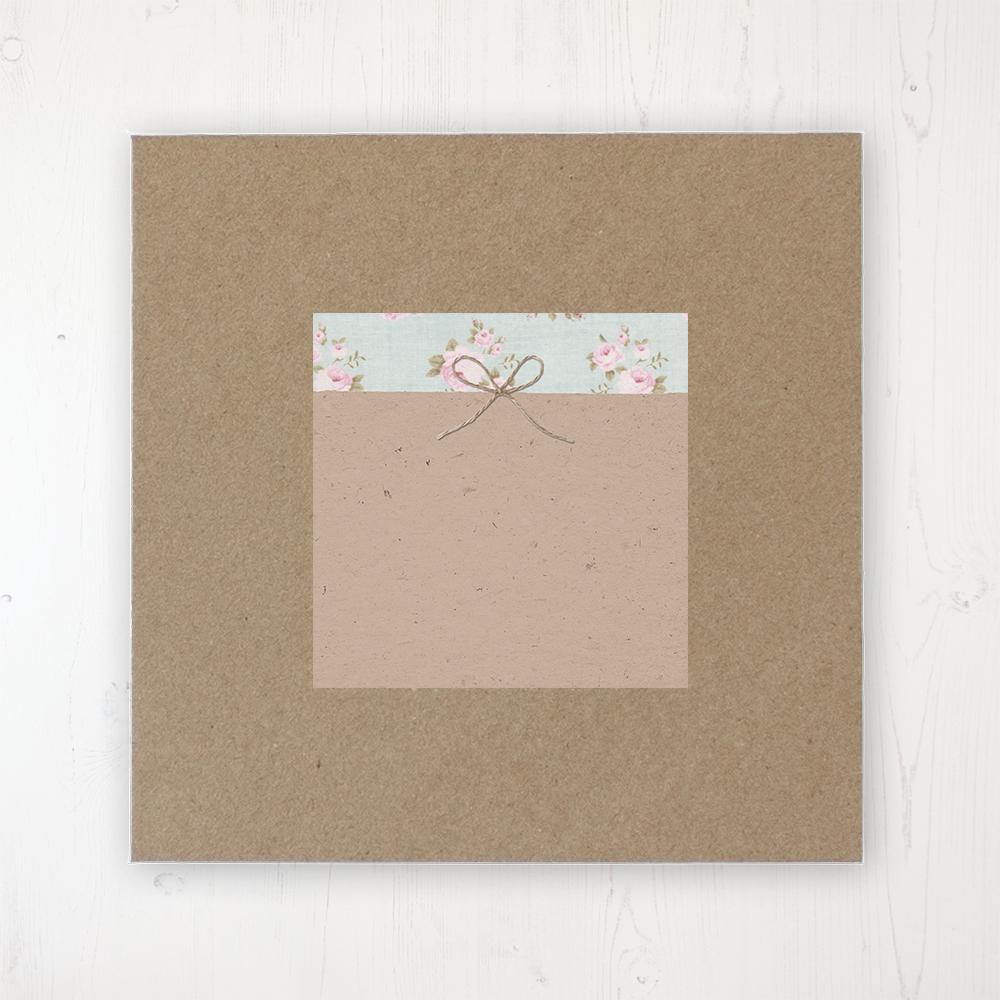 Lovebirds Wedding Envelope Label on Rustic Brown Envelope