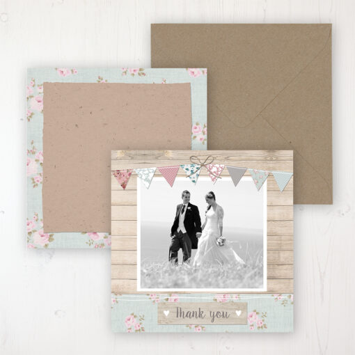 Lovebirds Wedding with a photo and with space to write own message