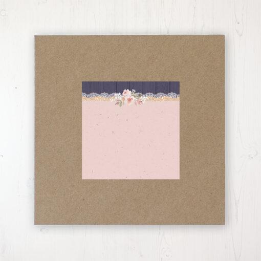 Midnight Glimmer Wedding Envelope Label on Rustic Brown Envelope