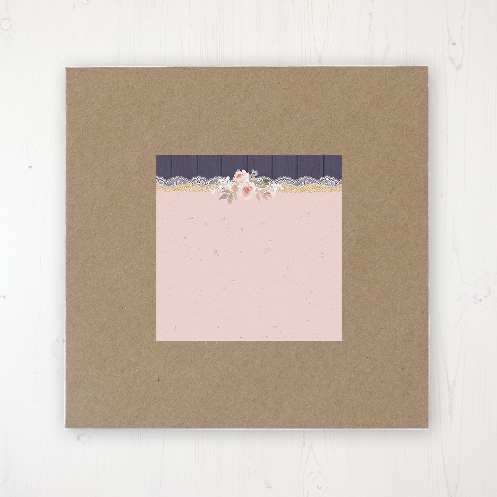 Midnight Glimmer Wedding Envelope Label on Rustic Brown Envelope