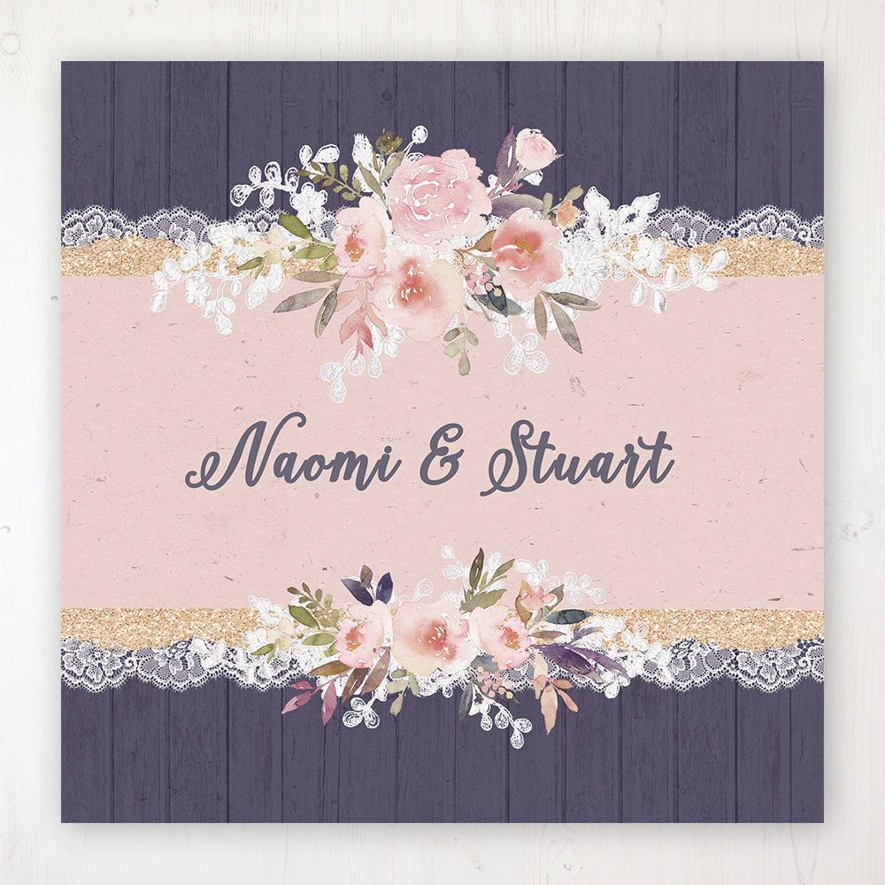 Midnight Glimmer Wedding Collection - Main Stationery Design