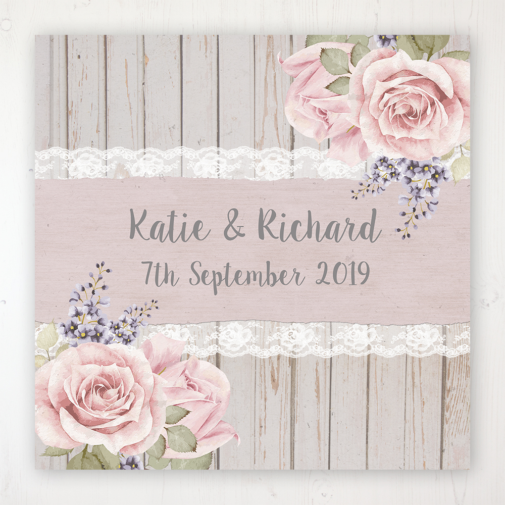 Mink Rose Wedding Collection - Main Stationery Design