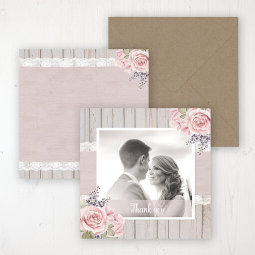 Mink Rose Wedding with a photo and with space to write own message