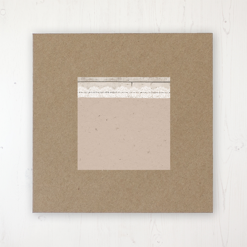 Natural Elegance Wedding Envelope Label on Rustic Brown Envelope