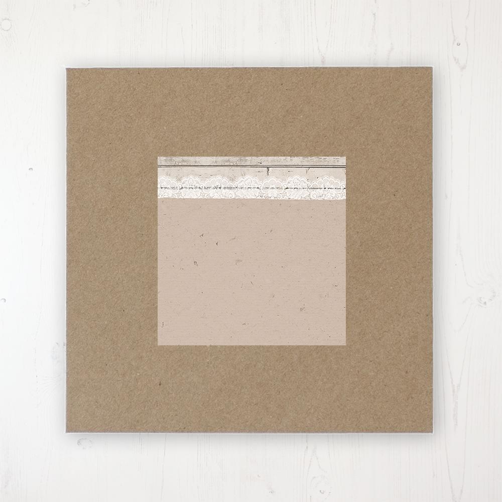 Natural Elegance Wedding Envelope Label on Rustic Brown Envelope