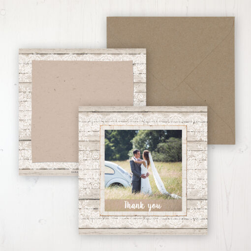Natural Elegance Wedding with a photo and with space to write own message