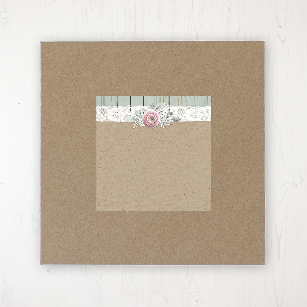Ophelia Sage Wedding Envelope Label on Rustic Brown Envelope
