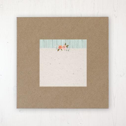 Prairie Peach Wedding Envelope Label on Rustic Brown Envelope