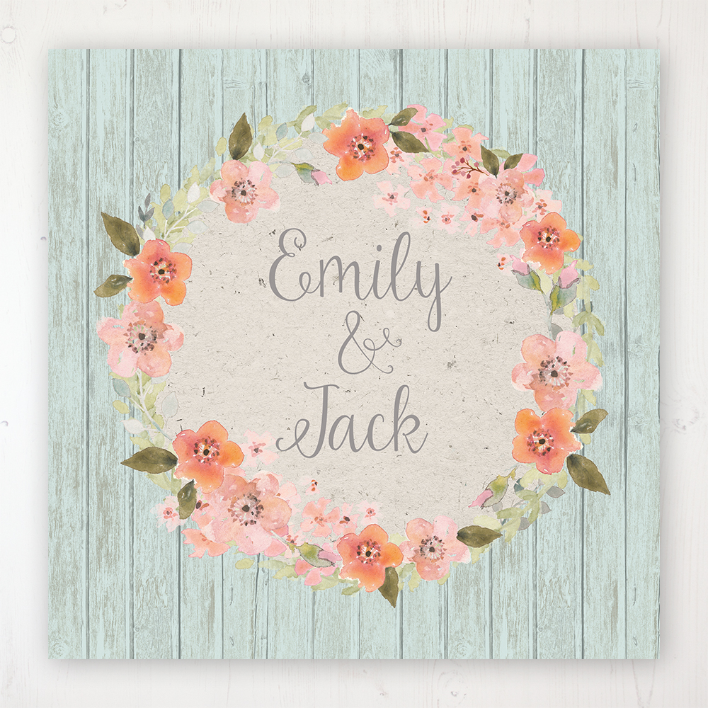 Prairie Peach Wedding Collection - Main Stationery Design