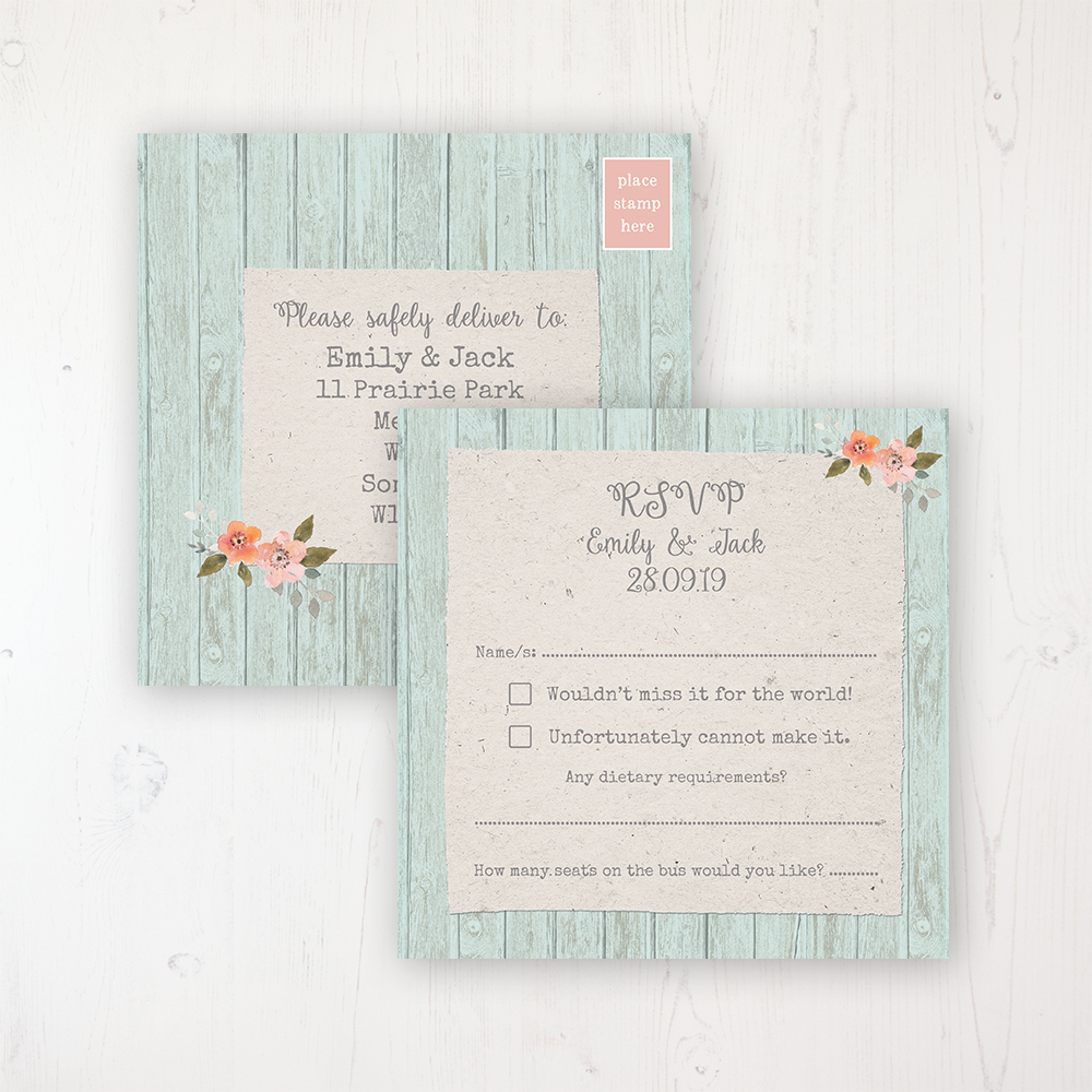 Prairie Peach Wedding Invitations - Sarah Wants Stationery