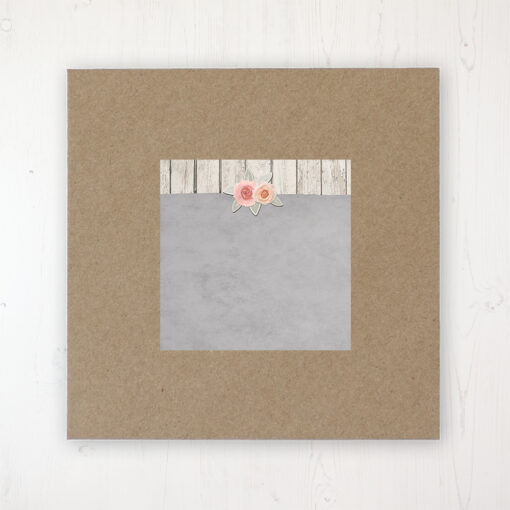 Rose Cottage Wedding Envelope Label on Rustic Brown Envelope