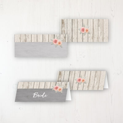 Rose Cottage Wedding Place Name Cards Blank and Personalised with Flat or Folded Option