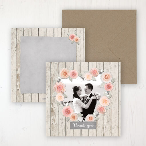 Rose Cottage Wedding with a photo and with space to write own message