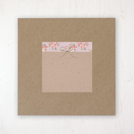Rustic Barn Wedding Envelope Label on Rustic Brown Envelope