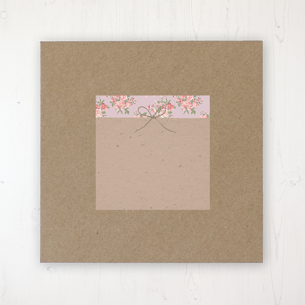 Rustic Barn Wedding Envelope Label on Rustic Brown Envelope
