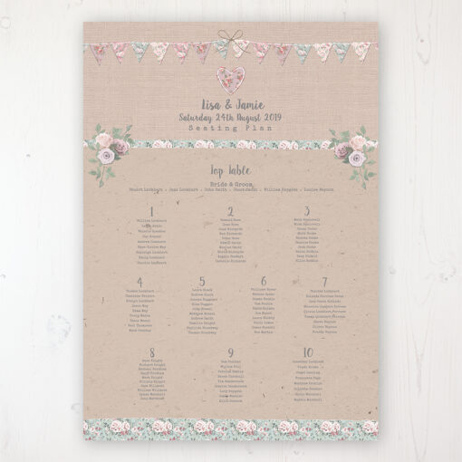 Rustic barn wedding table plan poster   sarah wants stationery