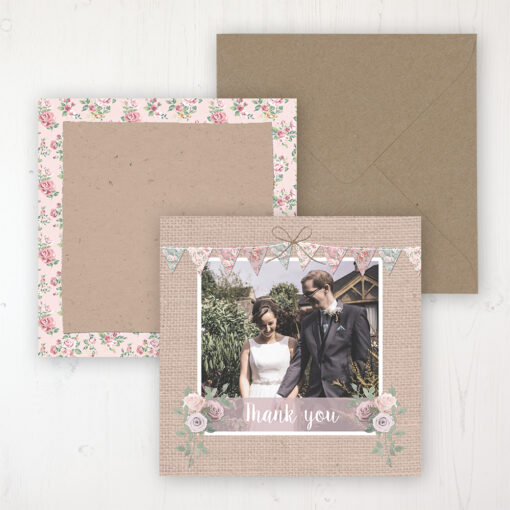 Rustic Barn Wedding with a photo and with space to write own message