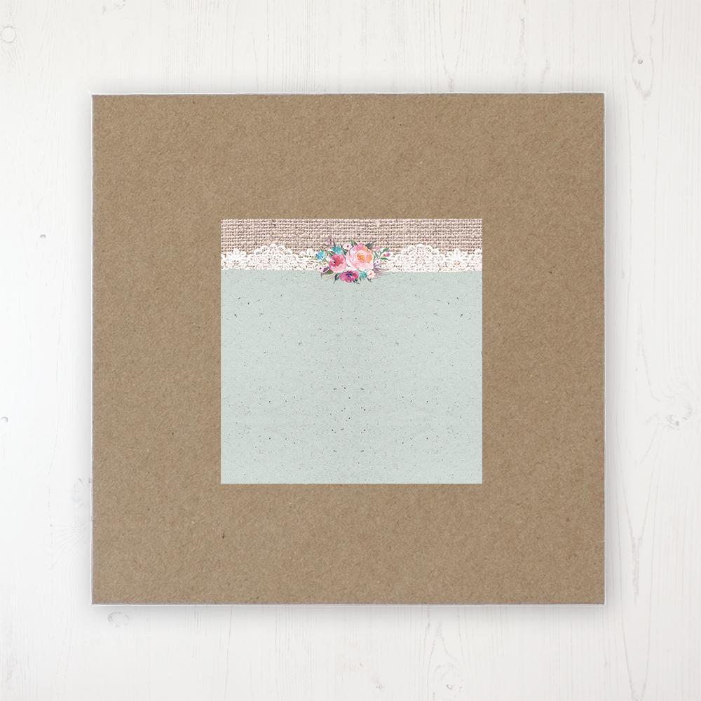 Rustic Farmhouse Wedding Envelope Label on Rustic Brown Envelope