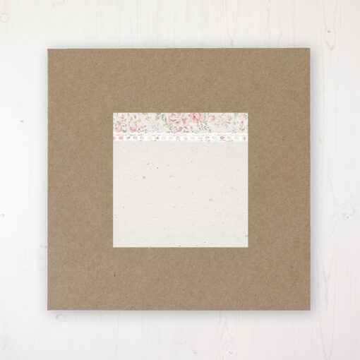 Summer Breeze Wedding Envelope Label on Rustic Brown Envelope
