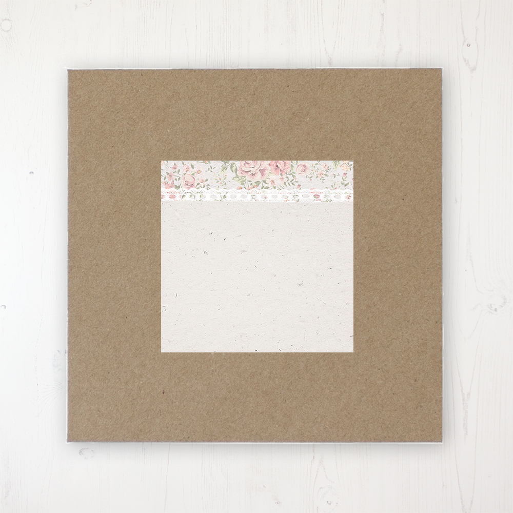 Summer Breeze Wedding Envelope Label on Rustic Brown Envelope
