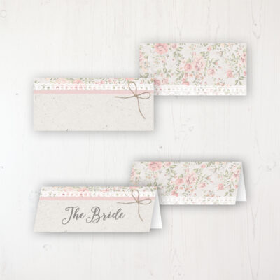 Summer Breeze Wedding Place Name Cards Blank and Personalised with Flat or Folded Option