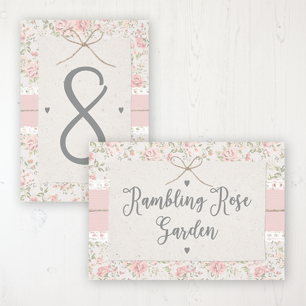 Summer Breeze Wedding Table Name & Number Personalised Table Name Card and Number Card