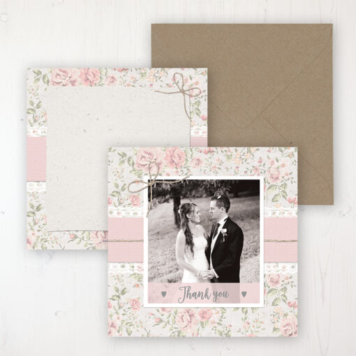 Summer Breeze Wedding with a photo and with space to write own message