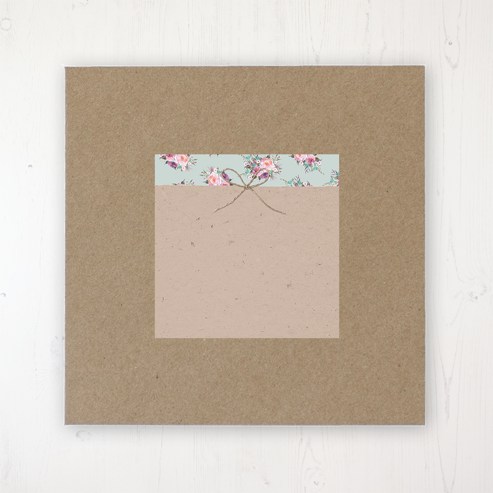 Tipi Love Wedding Envelope Label on Rustic Brown Envelope